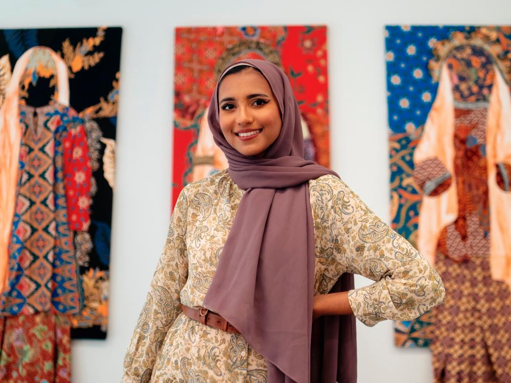 Azzah holds a Bachelor of Fine Art from Parsons School of Design and a Master of Fine Art from the Washington State University. – COURTESY OF AZZAH SULTAN