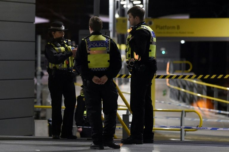 Manchester police are conducting a formal 'terrorist investigation' into a stabbing at the city's main railway station on Monday. — AFP