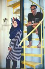 The owners of the shipping container home, Hamizah and Zaizul. - AMIRUL SYAFIQ/THESUN