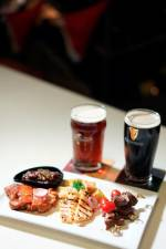 Lavo signature meat platter paired with Kilkenny and Guinness.