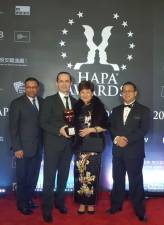 Ben (far left) with Mecja, Ho, and Faris at the HAPA awards ceremony.
