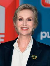 Jane Lynch played Sue Sylvester in Glee. © VALERIE MACON / AFP