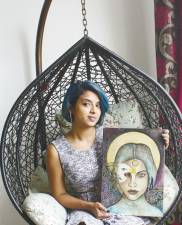Her art works have been exhibited in the US, India, Bangladesh, Indonesia and Thailand. – Courtesy of Mona KV