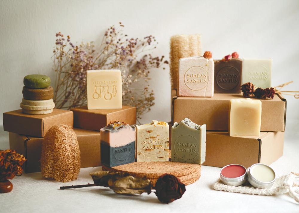 Different types of soap from Soapan Santun.