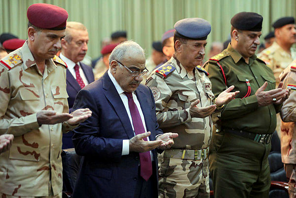 Iraqi Prime Minister Adel Abdul Mahdi attends the celebration ceremony of the first anniversary of defeating Islamic state in Baghdad, Iraq, Dec 10, 2018. — Reuters