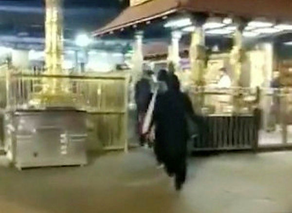 Two women enter the Sabarimala Temple in Pathanamthitta, Kerala, India, Jan 2, 2019. — Reuters