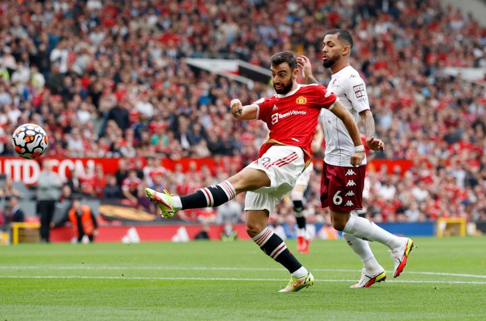 Manchester United's Bruno Fernandes shoots at goal – REUTERSPIX