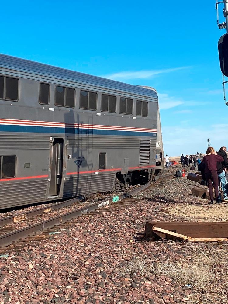 A derailed Amtrak train is seen near Havre, Montana, US September 25, 2021. REUTERSpix