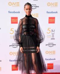Actress Letitia Wright arrives for the 50th NAACP Image awards on March 30, 2019 in Los Angeles. © Lisa O'CONNOR / AFP