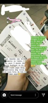 Woman claims 'connections' allowed her to fly from Tawau to KL during MCO