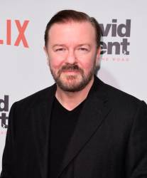 British comic, writer and director Ricky Gervais © Angela Weiss / AFP