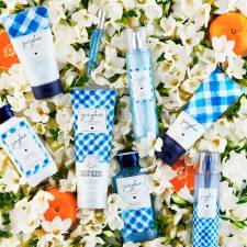 Bath & Body Works Gingham collection.