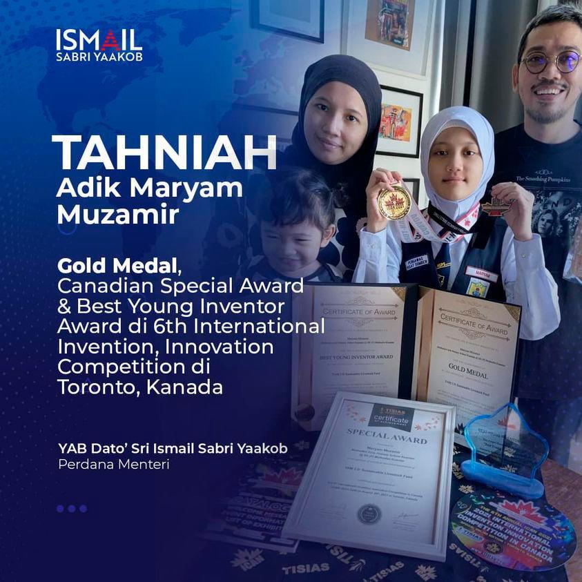 Ihsan gambar laman rasmi Ismail Sabri Yaakob