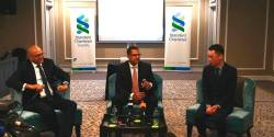 From left: Standard Chartered senior investment strategist Manish Jaradi, Standard Chartered Malaysia head of wealth management Sammeer Sharma and Chang at a press conference today.