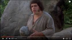 The Princess Bride featured a potpourri of Hollywood notables such as Mandy Patinkin, Billy Crystal and wrestler Andre the Giant, pictured here. © YouTube