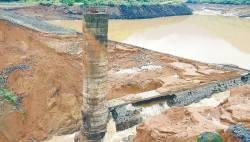 Force of nature ... Heaviest monsoon rains in a decade breached a dam in western India and caused mayhem in Mumbai. Thirteen bodies have been recovered and 11 people were still missing. The Tiware dam near Chiplun in Ratnagiri district, around 275km south of Mumbai, burst on July 3. – AFPpix