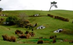 The remains of the Hobbiton movie set from the film the Lord of the Rings at the town of Matamata in the North Island of New Zealand, September 2007. Picture taken September 2007. AAP Image/Tracey Nearmy/via REUTERS ATTENTION EDITORS - THIS IMAGE WAS PROVIDED BY A THIRD PARTY. NO RESALES. NO ARCHIVE. AUSTRALIA OUT. NEW ZEALAND OUT.