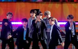 FILE PHOTO: Members of K-Pop band, BTS perform on ABC's 'Good Morning America' show in Central Park in New York City, U.S., May 15, 2019. REUTERS/Brendan McDermid/File Photo