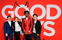 Good Boys, produced by Seth Rogen and Evan Goldberg, follows three 12-year-olds as they desperately try to get into a kissing party. © Mark RALSTON / AFP