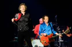 Mick Jagger, Charlie Watts and Keith Richards of The Rolling Stones perform onstage at Hard Rock Stadium on August 30, 2019 in Miami Gardens, Florida. © Michele Eve Sandberg / AFP