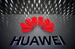A Huawei company logo is pictured at the Shenzhen International Airport in Shenzhen, Guangdong province, China. REUTERSPIX