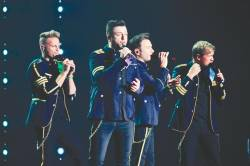 Members of Westlife gave fans a night to remember during its recent concert.
