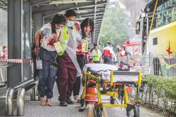 KD DiREx 2019 saw the involvement of multiple government agencies, Hospital Sungai Buloh and Thomson Hospital Kota Damansara, while the 'victims' were volunteers from local universities. – ADIB RAWI YAHYA/THESUN