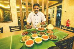 Chef Velavan Thangavelu and his selection of dishes. – ADIB RAWI/THESUN