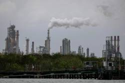 A refinery near the Corpus Christi Ship Channel is pictured in Corpus Christi, Texas. Trump announced on Sunday that he has authorised the release of oil from US strategic reserves after drone attacks cut Saudi Arabia's crude production by half. – AFPPIX