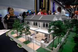 Models of properties for sale under the Home Ownership Campaign on display at the Malaysian Property Expo 2019. – BERNAMAPIX