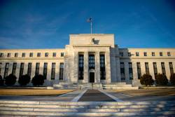 A view of the Federal Reserve in Washington, DC. The Fed has left the outlook for interest rates to be unchanged for the rest of the year. - AFPPIX