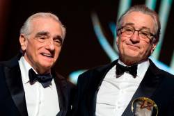Martin Scorsese (L) cast Robert de Niro (R) as the lead in The Irishman. © FADEL SENNA / AFP