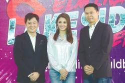 (from L) Ong, Fazura, and Leong at the announcement of the concert.