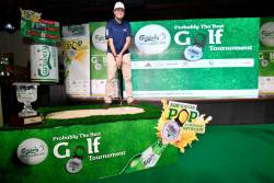 Akiskalos launching the Carlsberg Golf Classic.