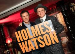Actors John C. Reilly (R) and Will Ferrell: Holmes & Watson and its co-stars and director are nominated for a total of six Razzies.