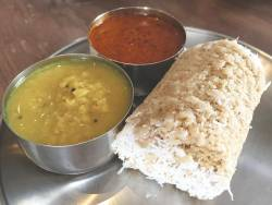 Atta puttu with dhal curry and vendhaya kulambu. – Pictures by Tan Bee Hong
