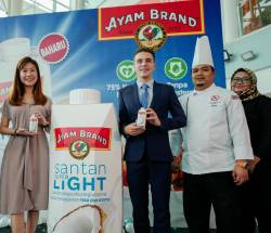 From left: Low, Deverre, Chef Syafiq and GCH Retail (M) Sdn Bhd category manager Noor Azah Salwani during the launch.