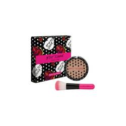 Betsey Johnson Sparkle Hard Highlighter Powder With Brush.