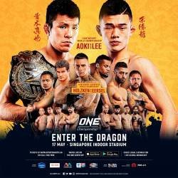 Additional bouts announced for ONE: ENTER THE DRAGON in Singapore on May 17