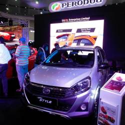 The Axia Style was one of the Perodua models displayed at the Seylan Colombo Motor Show, held at the Bandaranaike Memorial International Conference Hall.