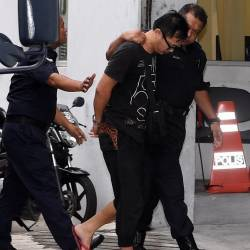 Yew Wei Liang, 41, is brought to the Kajang magistrates' court today on the charge of killing Syed Muhammad Danial Syed Shakir during a recent alleged road rage incident. - Bernama