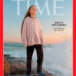 This handout image released on December 11, 2019 shows the Time person of the Year December 23/December 30, 2019 cover with Greta Thunberg. - AFP