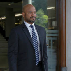 Filepix taken on Mar 14 shows former 1Malaysia Developement Berhad (1MDB) chief executive officer, Arul Kanda Kandasamy at the Kuala Lumpur Courts Complex.
