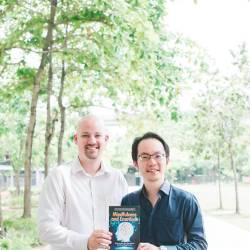 From left: Clarke and Tee with their book on mindfulness and emotions.