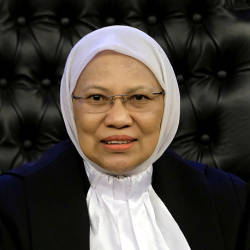 Federal Court judge Datuk Rohana Yusuf, 63, today became the first woman to be elevated as the President of the Court of Appeals, at the Palace of Justice. — Bernama