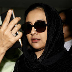 Filepix taken on Sept 4 shows the Samirah Muzaffar widow of Cradle Fund CEO Nazrin Hassan appearing at the Shah Alam High Court for the trial where she is currently accused of murdering her husband. — BBXpress