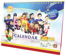 A free Morinaga calendar 2020 will be given away with every purchase of the Morinaga Chil-kid