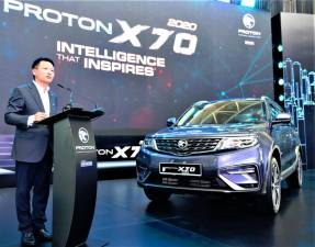 Proton CEO Li Chunrong at the launch.