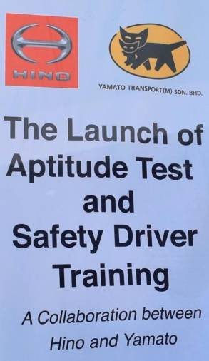 Hino-Yamato safety training for lorry drivers launched
