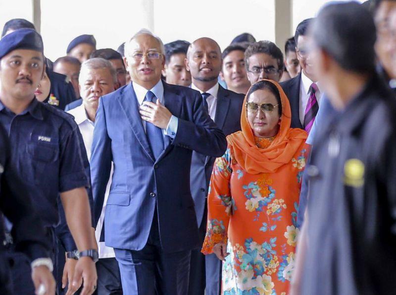 Former prime minister Datuk Seri Najib Abdul Razak and his wife Datin Seri Rosmah Mansor.